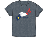 T-Shirt: Unisex Acadian Flag in Map