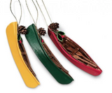 Ornament: Canoe Wooden Assorted Colours