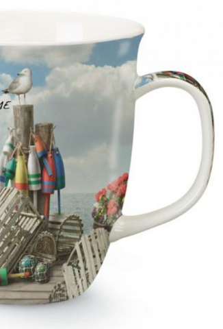 Mug: Harbor Dockside Scene