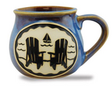 Mug: Bean Pot Adirondack Chairs Coastal Collage