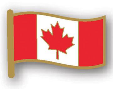 Lapel Pin: Canada Waving Flag