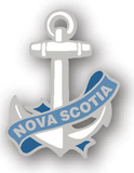 Lapel Pin: Anchor Banner NS