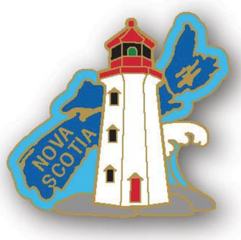 Lapel Pin: Map with Lighthouse