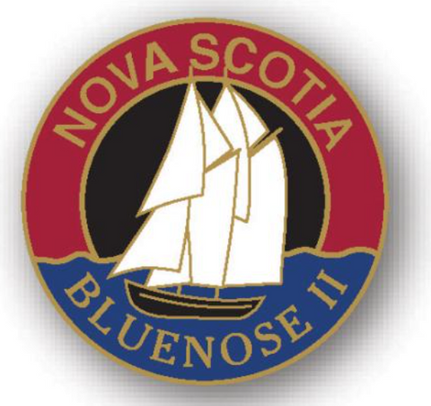 Lapel Pin: Circle Bluenose