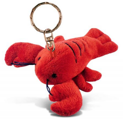 Keychain: Lobster Plush w Nova Scotia lettering