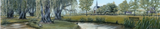 Painting: Large panorama of Grand-Pré National Historic Site
