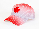 Hat: Canada Two Tone Red Grey Baseball