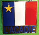 Lapel Pin: Acadian Flag Square Style