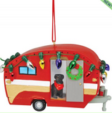 Ornament: Camper with Dog