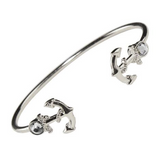 Bracelet: 201366 Double Anchor Silver