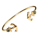 Bracelet: 202084 Double Anchor Gold