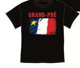 T-Shirt: Acadian Flag Rocks with Grand-Pré writing