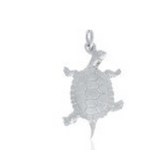 Charm: Turtle Hand Crafted Pewter
