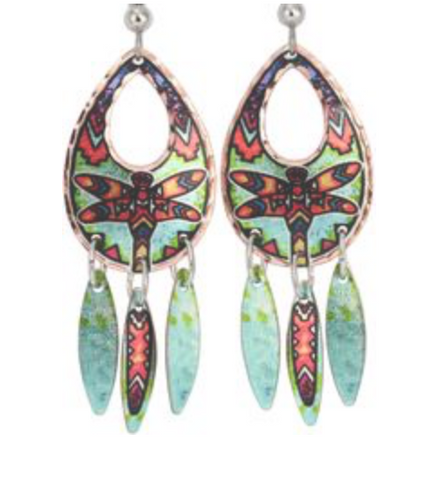 Native Earrings: Dragonfly Dangles Designed by Lynn Bean