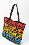 Canvas Bag: L'Acadie writing throughout