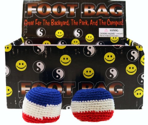 Foot Bag: Red, White, Blue Kicksack