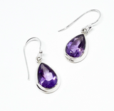 Amethyst Teardrop Earrings: E51