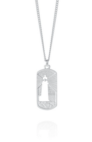 "Pendant: Peggy's Cove Beacon 18"" Hand Crafted Pewter"