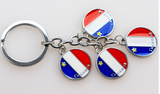 Keychain: Acadian 4 Circles Attached