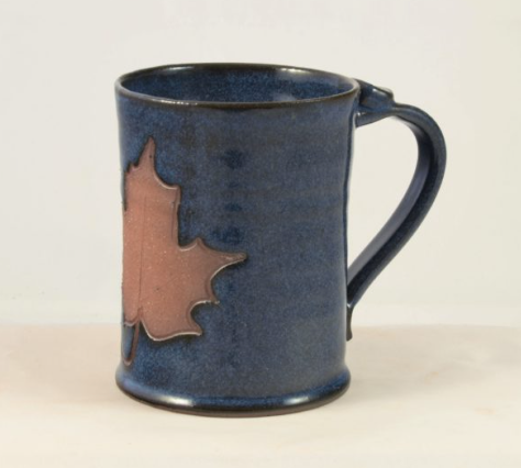 Pottery: Coffee Mug (14oz) Large in Maple Leaf Collection