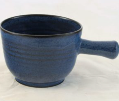 Pottery: Mini Soup/Chowder Bowl .5 cup in Studio Blue Collection