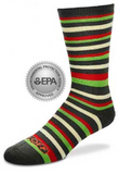 Cotton Socks: Bug Off Lotta Stripe Green