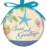 Ornament: Ball Light up Seas & Greetings