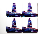 Coasters: Lighthouse Set by Local Art by Hannah Hicks