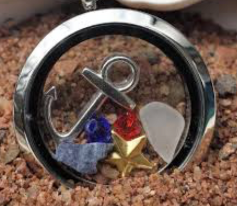 Necklace: Acadian Sea Locket with Charms