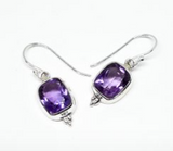 Amethyst Earrings: E08
