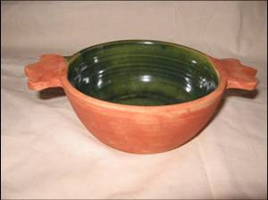 Saintonge Pottery: Porringer