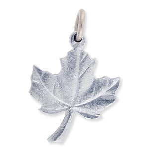 Charm: Maple Leaf Hand Crafted Pewter