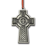 Ornament: Celtic Cross Handcrafted Pewter