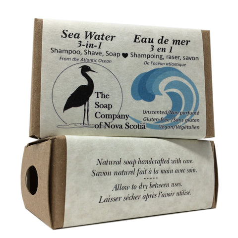 Shampoo, Shave and Soap: Sea Water 3-in-1