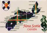 Magnet: Nova Scotia Map with Tartan layout