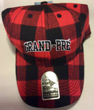 Hat: Plaid Red with Grand-Pré writing