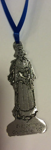 "Ornament: Evangeline 3"" Handcrafted Pewter"