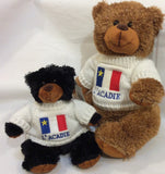 "Cuddle Toy: 8"" Brown Bear with Acadian Sweater"