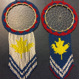 Dreamcatcher: Acadian Colours Full Beaded Handcrafted by Patty Smith Mi'Kmaq Elder