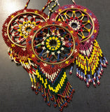 Dreamcatcher: Assorted Colours Full Beaded Handcrafted by Patty Smith Mi'Kmaq Elder