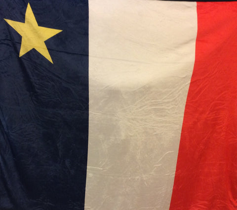 "Blanket: Acadian Flag Design 50""x60"""