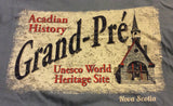 T-Shirt: Unisex Grand-Pré Church Index w Acadian History