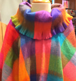 Ponchos: Alpaca with Turtleneck in assorted colours