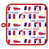 Pot Holder: Acadie or Nova Scotia with Acadian Flag or Lobster