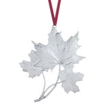 Ornament: Maple Leaf 2004 Hand Crafted Pewter