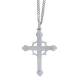 Acadian Cross Pendant: Handcrafted Pewter