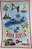 Tea Towel: Nova Scotia Tartan Map