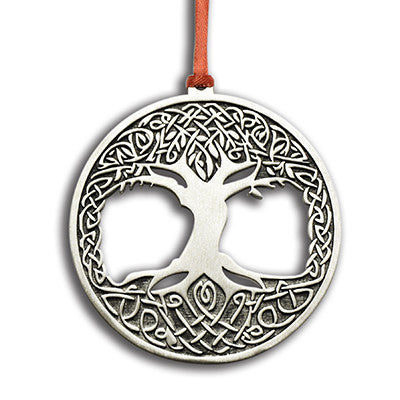 Ornament: Tree Of Life Handcrafted Pewter