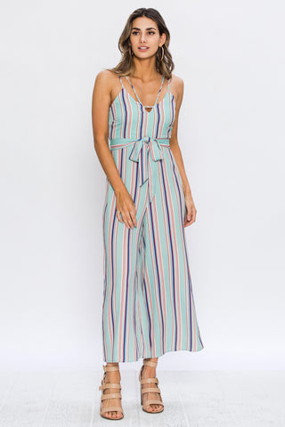 A. Calin Striped Wide Legged Jumpsuit