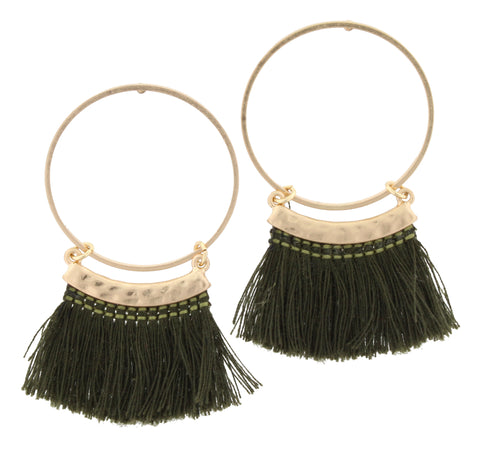 Jane Marie Fringe Hoop Earrings